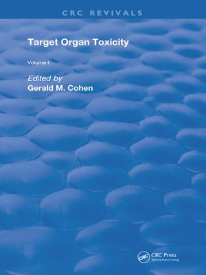 cover image of Target Organ Toxicity