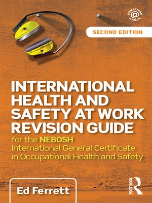 cover image of International Health and Safety at Work Revision Guide