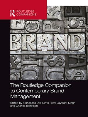 cover image of The Routledge Companion to Contemporary Brand Management