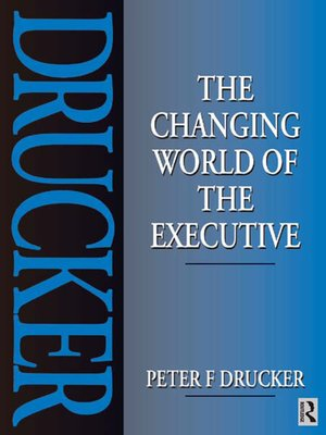 cover image of The Changing World of the Executive