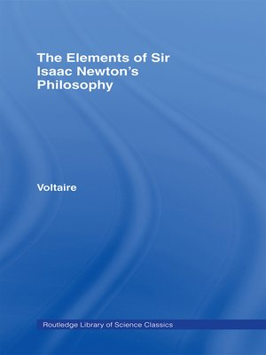 cover image of The Elements of Newton's Philosophy