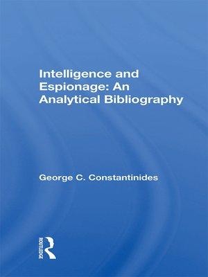 cover image of Intelligence and Espionage