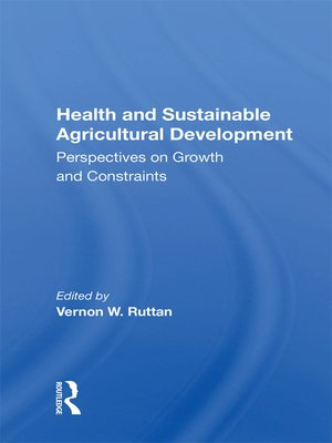 cover image of Health and Sustainable Agricultural Development