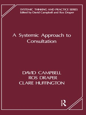 cover image of A Systemic Approach to Consultation