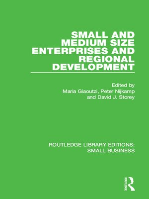 cover image of Small and Medium Size Enterprises and Regional Development