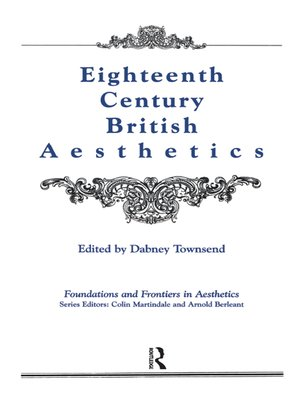 cover image of Eighteenth-Century British Aesthetics