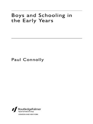 cover image of Boys and Schooling in the Early Years