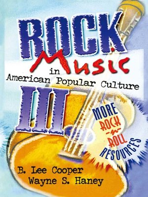 cover image of Rock Music in American Popular Culture III
