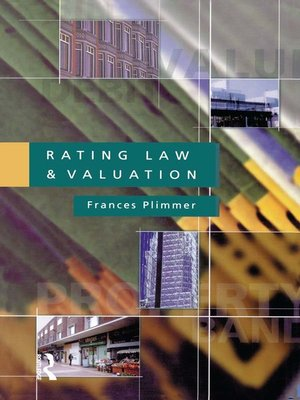 cover image of Rating Law and Valuation