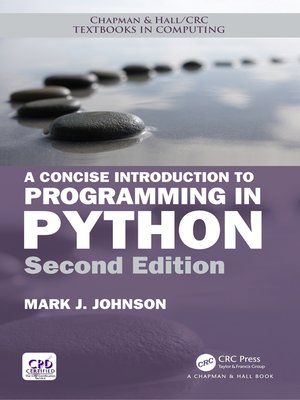 cover image of A Concise Introduction to Programming in Python