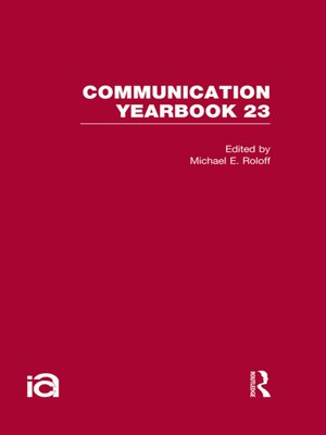 cover image of Communication Yearbook 23