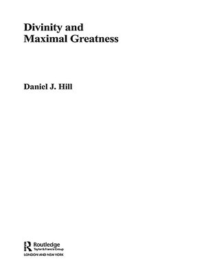 cover image of Divinity and Maximal Greatness