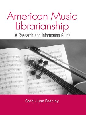 cover image of American Music Librarianship