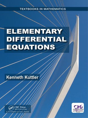 cover image of Elementary Differential Equations