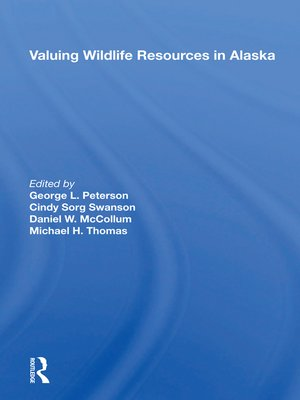 cover image of Valuing Wildlife Resources In Alaska