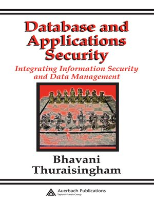 cover image of Database and Applications Security