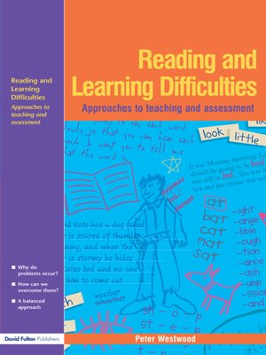 cover image of Reading and Learning Difficulties