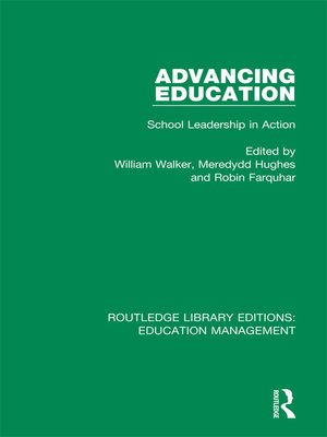 cover image of Advancing Education
