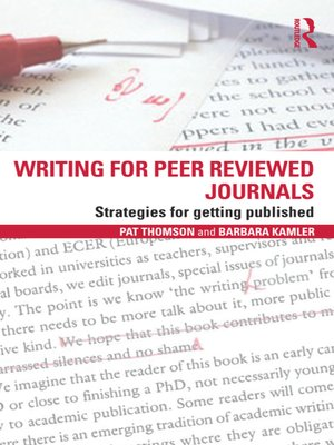 cover image of Writing for Peer Reviewed Journals