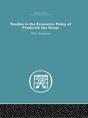 cover image of Studies in the Economic Policy of Frederick the Great