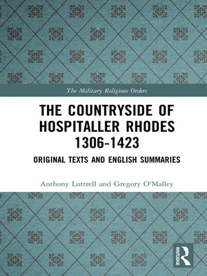 cover image of The Countryside of Hospitaller Rhodes 1306-1423