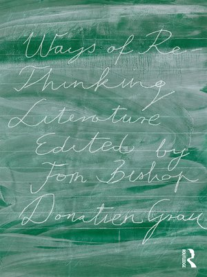 cover image of Ways of Re-Thinking Literature