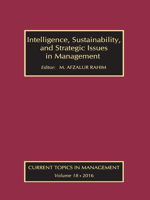 cover image of Intelligence, Sustainability, and Strategic Issues in Management