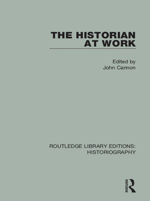 cover image of The Historian At Work