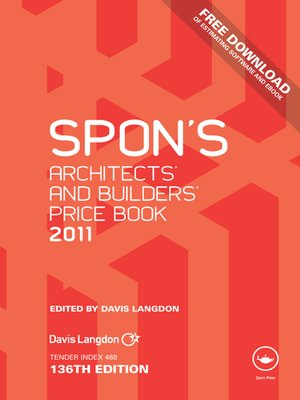 cover image of Spon's Architects' and Builders' Price Book 2011