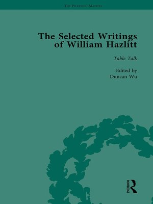 cover image of The Selected Writings of William Hazlitt Vol 6