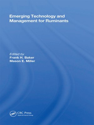 cover image of Emerging Technology and Management For Ruminants