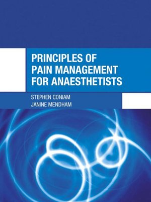cover image of Principles of Pain Management for Anaesthetists