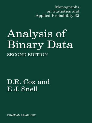 cover image of Analysis of Binary Data