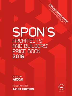 cover image of Spon's Architect's and Builders' Price Book 2016