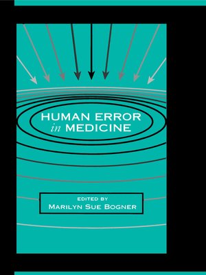 cover image of Human Error in Medicine