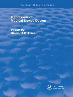 cover image of Handbook of Medical Device Design