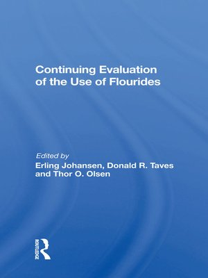 cover image of Continuing Evaluation of the Use of Fluorides