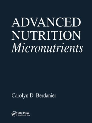 cover image of Advanced Nutrition Micronutrients