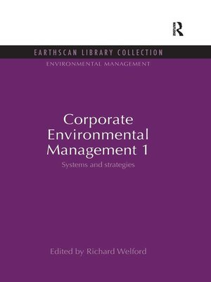 cover image of Corporate Environmental Management 1