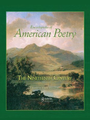 cover image of Encyclopedia of American Poetry