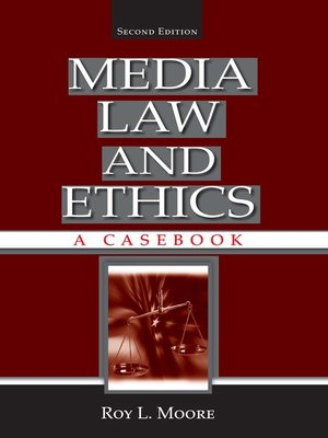 cover image of Media Law and Ethics