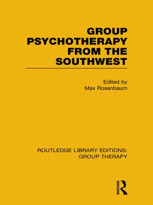 cover image of Group Psychotherapy from the Southwest (RLE