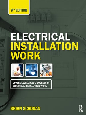 cover image of Electrical Installation Work, 9th ed