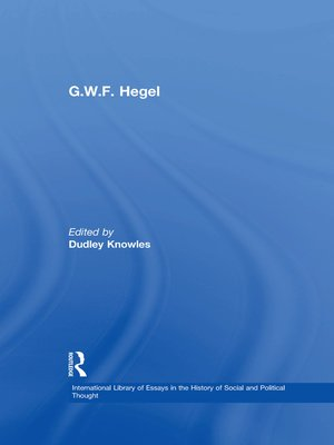 cover image of G.W.F. Hegel