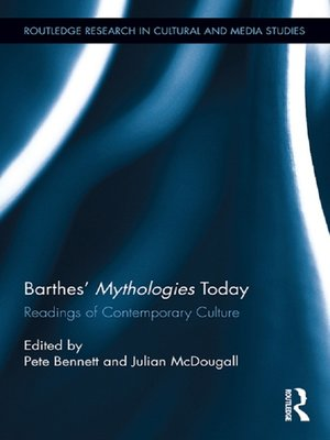 cover image of Barthes' Mythologies Today