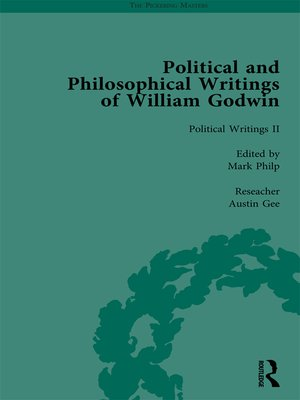 cover image of The Political and Philosophical Writings of William Godwin vol 2