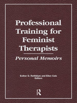 cover image of Professional Training for Feminist Therapists