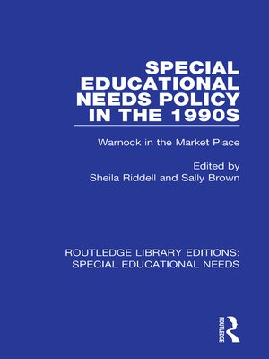 cover image of Special Educational Needs Policy in the 1990s