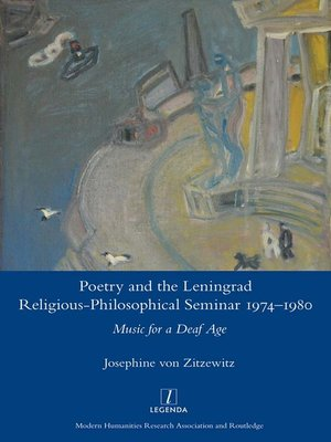 cover image of Poetry and the Leningrad Religious-Philosophical Seminar 1974-1980