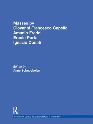 cover image of Masses by Giovanni Francesco Capello, Bentivoglio Lev, and Ercole Porta